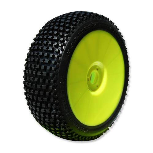 MARATHON (super soft/fialová směs) Off-Road 1:8 Buggy gumy nalep. na žlutých disk. (4ks.)