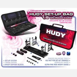 COMPLETE SET OF SET-UP TOOLS + CARRYING BAG - FOR 1/8 ON-ROAD CARS
