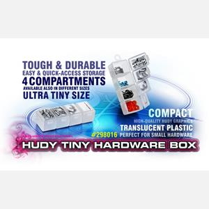 HUDY TINY HARDWARE BOX - 4-COMPARTMENTS