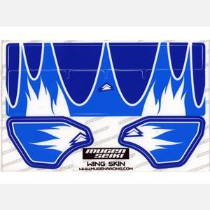 Nálepky na MUGEN 1/8 křídlo (světle modrá/modrá)
