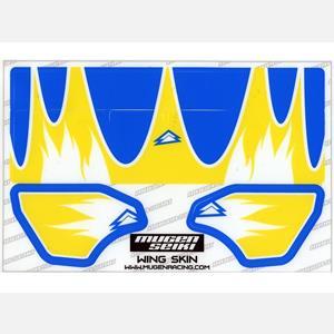 Nálepky na MUGEN 1/8 křídlo (světle modrá/žlutá)