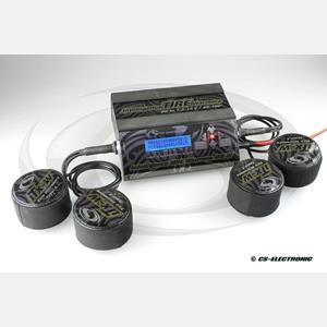 CS - PC ohřívačka gum pro 1/10 TC auta včetně ohřívacích vaniček