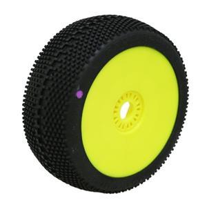 SQUARE IMPACT (supersoft/fialová směs) 1:8 Buggy gumy nalep. na žlutých disk. (2ks.)