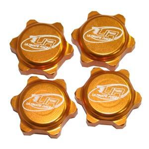 Odlehčené matky na kola pro modely KYOSHO / MUGEN / XRAY / CRONO RS7 / LOSI - zlaté