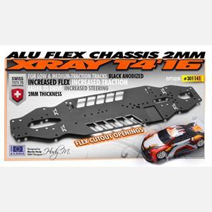 T4'16 ALU FLEX CHASSIS 2.0MM - SWISS 7075 T6