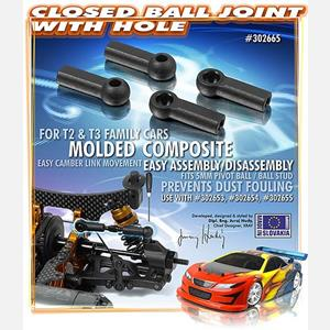 COMPOSITE BALL JOINT 4.9MM - CLOSED WITH HOLE (4)