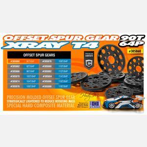 OFFSET SPUR GEAR 90T / 64