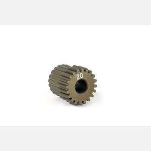 NARROW ALU PINION GEAR - HARD COATED 20T / 64
