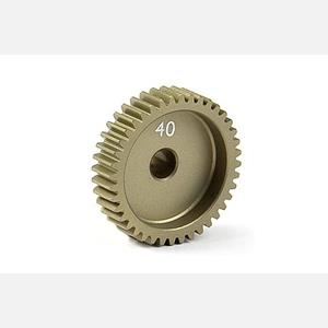 NARROW ALU PINION GEAR - HARD COATED 40T / 64
