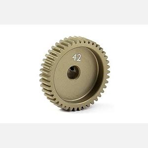 NARROW ALU PINION GEAR - HARD COATED 42T / 64