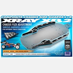 COMPOSITE CHASSIS SIDE GUARDS L+R - HARD