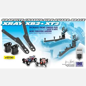 GRAPHITE CHASSIS SIDE GUARD BRACE (2)