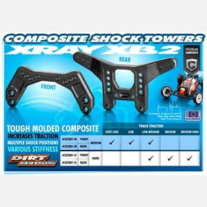 COMPOSITE SHOCK TOWER FRONT - HARD