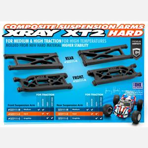 XT2 COMPOSITE SUSPENSION ARM REAR LOWER - HARD