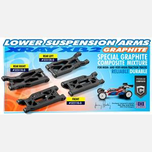 COMPOSITE SUSPENSION ARM REAR LOWER LEFT - GRAPHITE