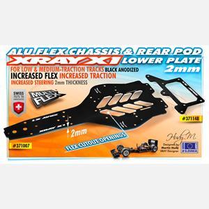 X1 ALU FLEX 2.0MM CHASSIS - 7075 T6
