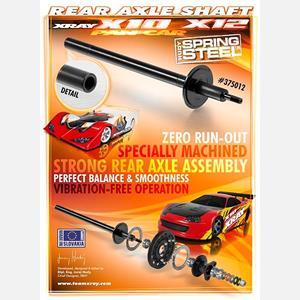 STEEL REAR AXLE SHAFT - HUDY SPRING STEEL™