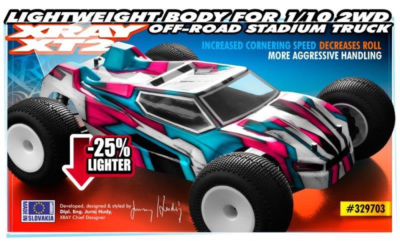 BODY FOR 1/10 2WD OFF-ROAD STADIUM TRUCK - LIGHTWEIGHT