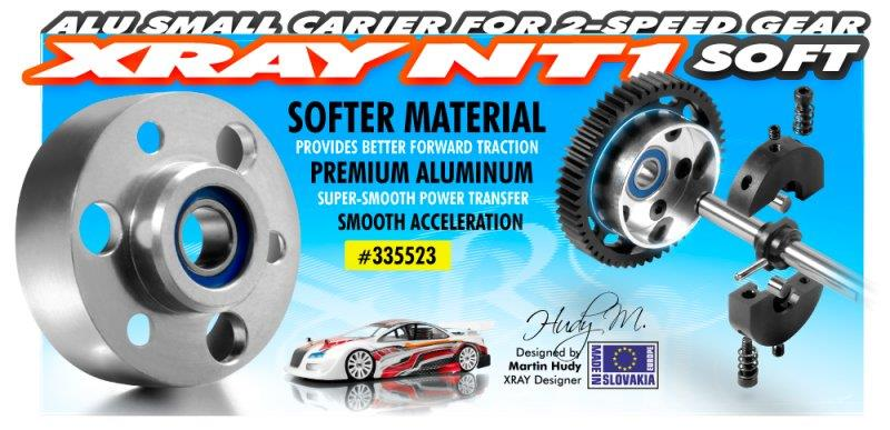ALU SMALL CARRIER FOR 2-SPEED GEAR (2nd) + BALL-BEARING - SOFT