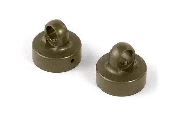 ALU SHOCK CAP NUT - BLACK COATED (2)